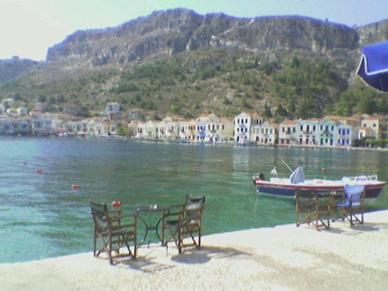 the front of our hotel (Hotel Kastellorizo)