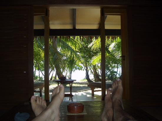 Tokoriki Island Resort: Looking Out from Our Bure