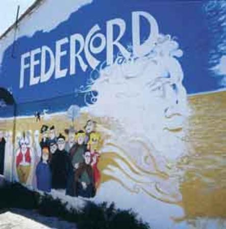 Sunflower Beach Backpacker Hostel & Bar: Federico Fellini Wall