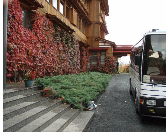 Kosaka-machi, Japan: Hotel entry.