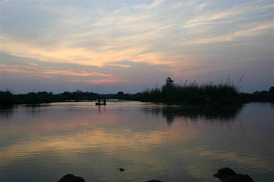 Zambia: Dusk on the Zambezi, Fishermen heading home
