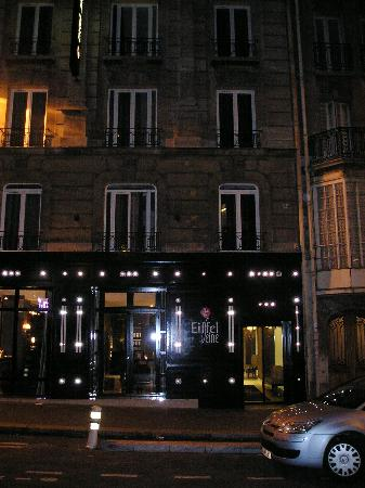 Hotel Eiffel Seine : Outside the Eiffel Seine at night. (taken from Metro station)