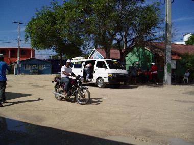 Motorbike and Mini Bus