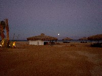 Moon rise at the Swisscare Nuweiba beach