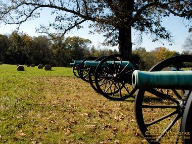 Cannons at the Chickamauga Battlefield