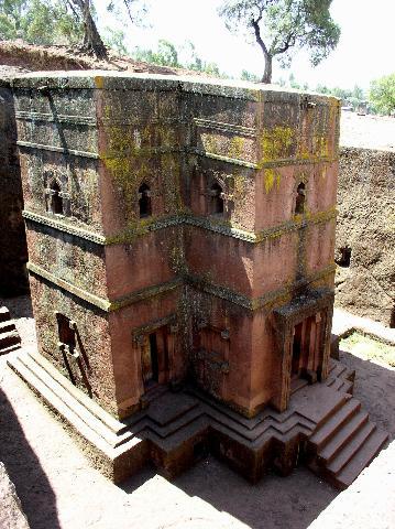 Rock-hewn church at Lalibela