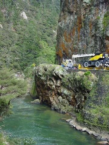Road through gorge