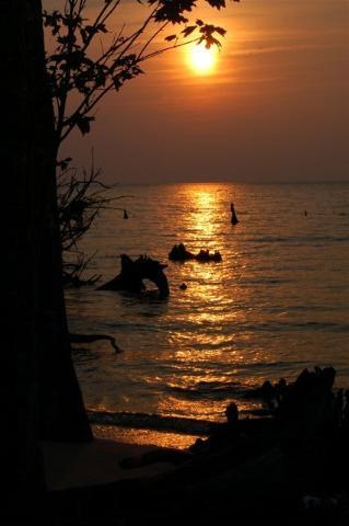 Columbia Albemarle sound sunset by Ingrid Lemme 2006