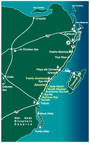Yucatan Peninsula Resort Maps Tripadvisor