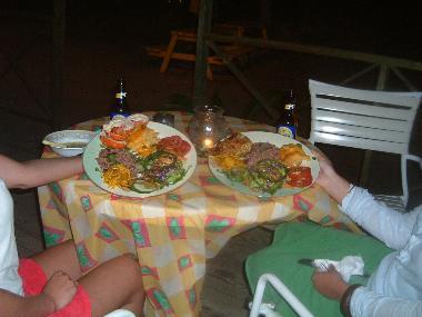 The lobster and Mahi Mahi plates at Chevy's Calypso Bar