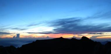 Sunrise at the top of Mt Kinabalu