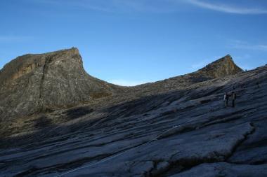 South Peak and the actual peak of Mt. Kinabalu