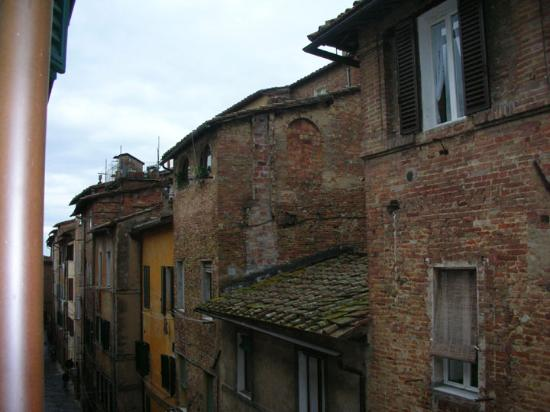 Hotel Antica Torre: view of street from top room