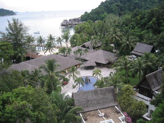 Pangkor Laut Resort: View from the hill villa