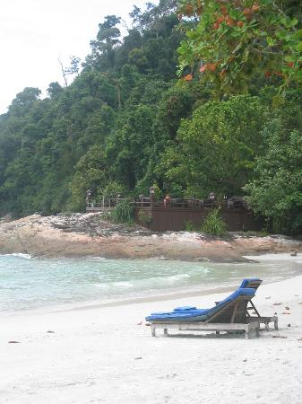 Pangkor Laut Resort: Emerald Bay (w/ Dinner on the Rocks in the background)