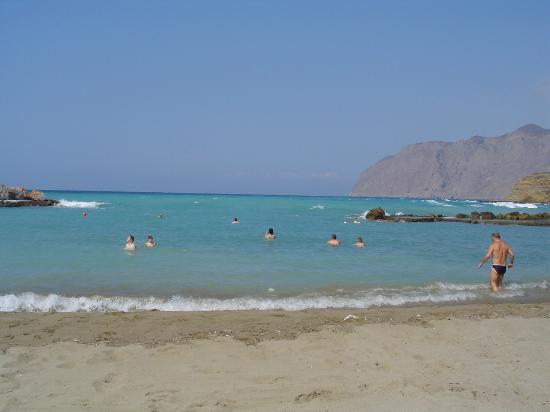 Μοχλός, Ελλάδα: La plage