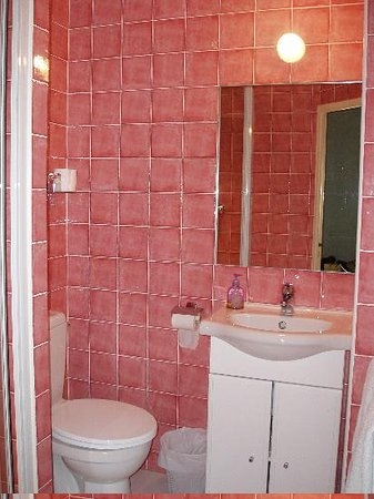 Nice Garden Hotel: This pink bathroom was very clean and totally modern