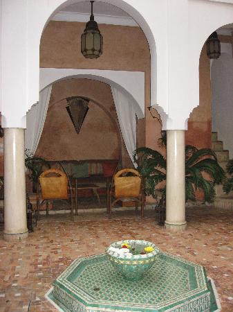 The patio of the Dar Warda