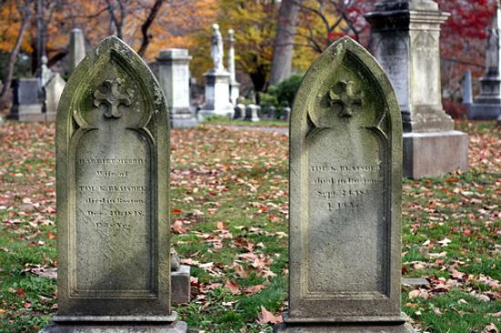 Mount Auburn Cemetery: Pair of headstones