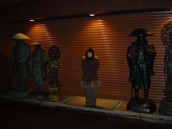 Matsubaya Inn: la rue devant l'hotel!