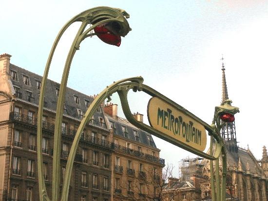 Art Nouveau Metro Sign Picture Of Paris Ile De France