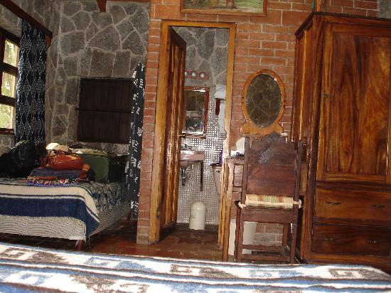 Posada de Santiago: The extra bed in my casita