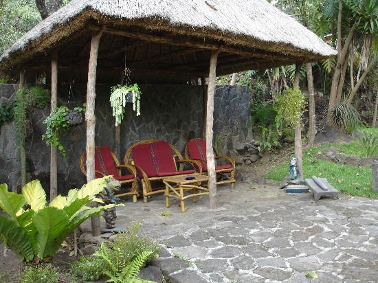Posada de Santiago: The outdoor sala