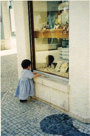 "Cascais, Portugal: ""Diamonds are a girl's best friend"""