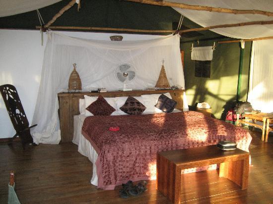 Fundu Lagoon: Inside of sleeping area
