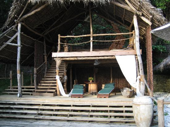 Fundu Lagoon: Reading/Lounging area