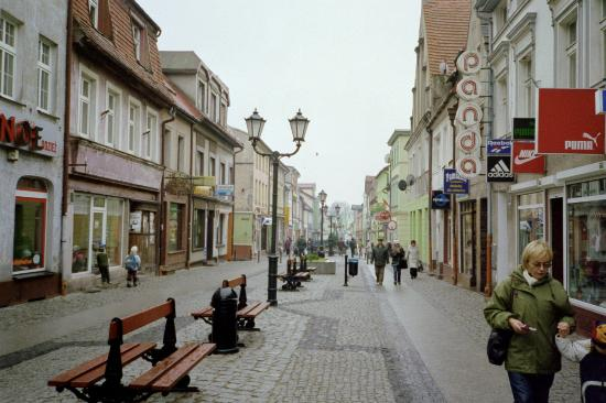 Walking street in Darlowo