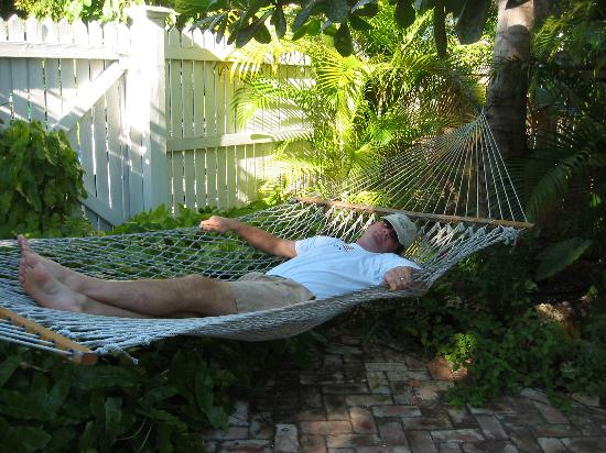 Nap time in the hammock by the pool!