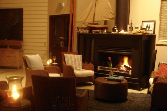 The Boatshed: The common fire - at night