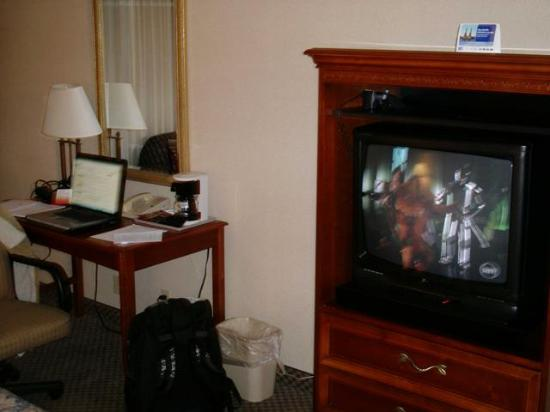 Cleveland Airport Hotel: TV and Desk w/wireless