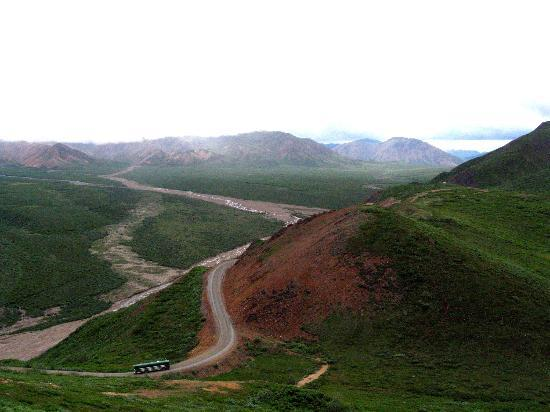 Denali National Park and Preserve, AK: View from a hike above Polychrome.