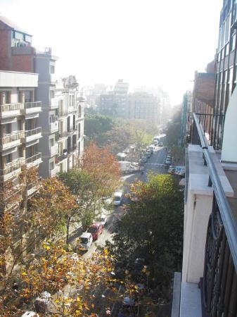 Hispanos 7 Suiza: Looking towards Placa Sagrada Familia