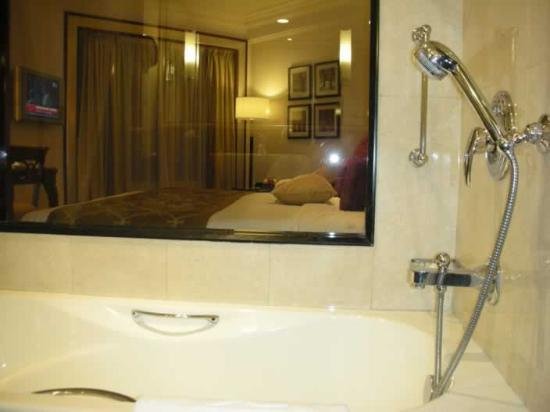 A Bedroom View Through See Through Bathroom Window Picture Of Shangri La 39 S Eros Hotel New