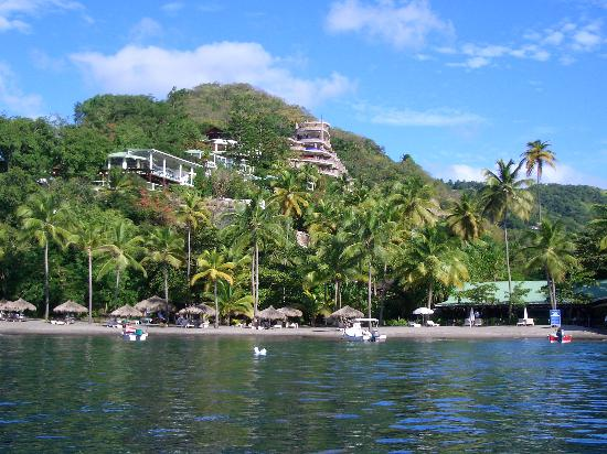View of Anse Chastanet from the sea