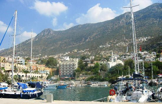 Kelebek Hotel: View from Kalkan Bay