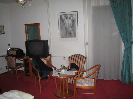 Hotel U Solne Brany: Amplia habitación con tele enorme!