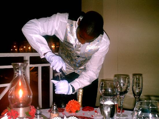 Sandals Royal Plantation: Our Private dinner with personal butler service