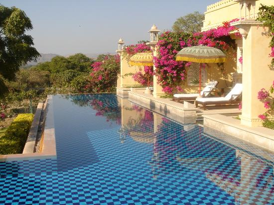 View of our terrace picture of the oberoi udaivilas for Terrace 6 indore images