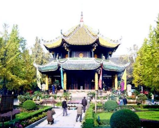 Chengdu, China: Qingyangyong Temple