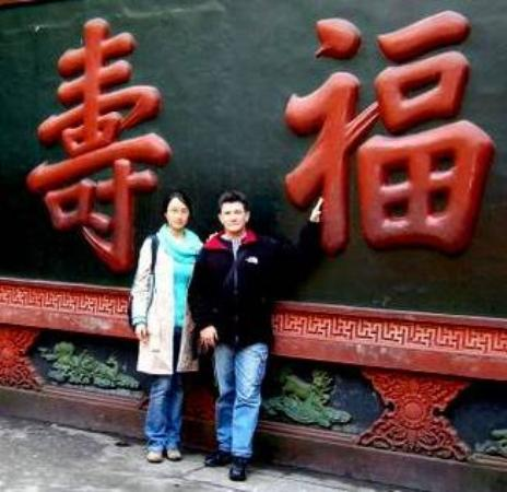 Chengdu, China: Good luck rub
