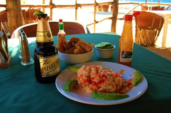 Ceviche Cerveza Picture Of Hotel Lagunita Yelapa Tripadvisor