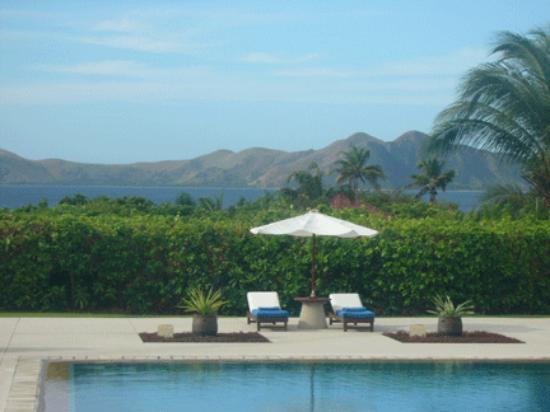 A breathtaking view of the Sulu Sea and the Amanpulo Clubhouse swimming pool