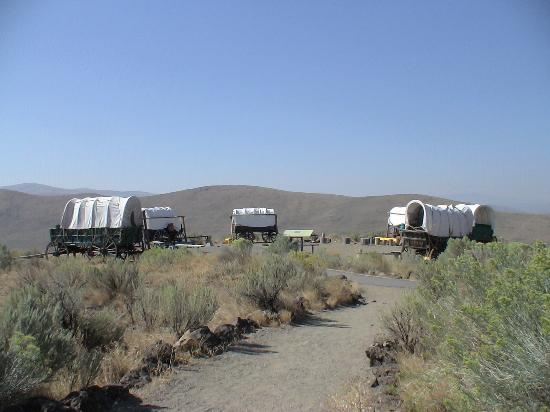 National Historic Oregon Trail Interpretive Center : The types of wagons they used.