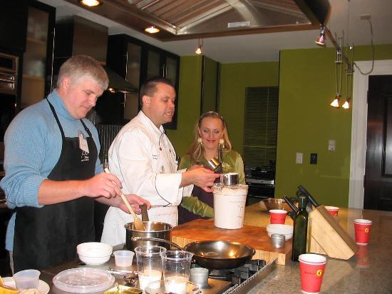 Savannah, GA: Darin and Jennifer measuring flour