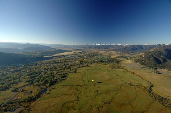 View of Jackson Hole from hot air balloon.