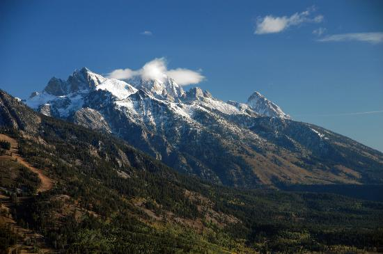 Jackson, WY: View of the Tetons from the air